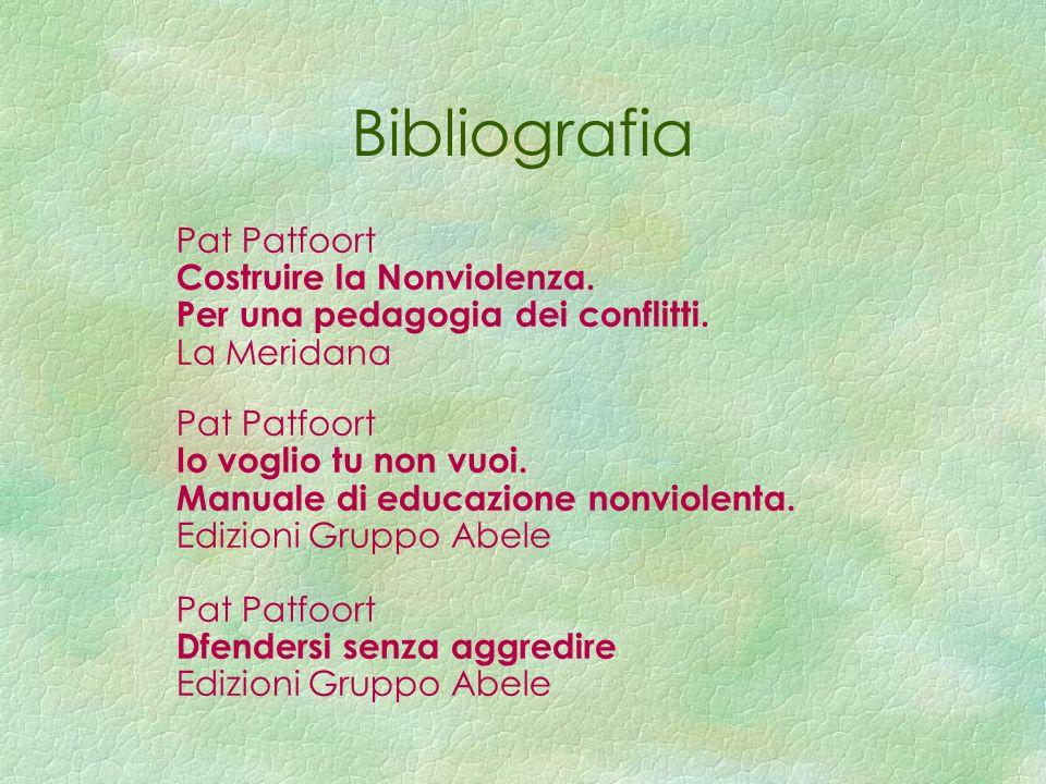 Bibliografia Pat Patfoort Costruire la Nonviolenza.