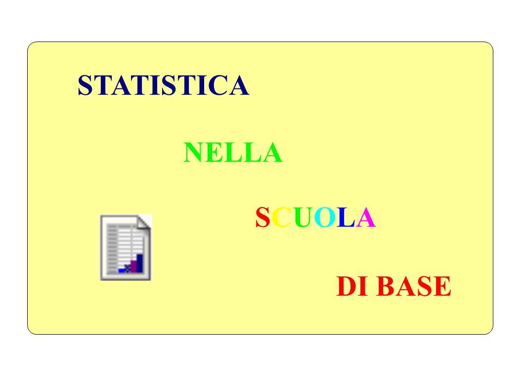 STATISTICA NELLA SCUOLA SCUOLA DI BASE