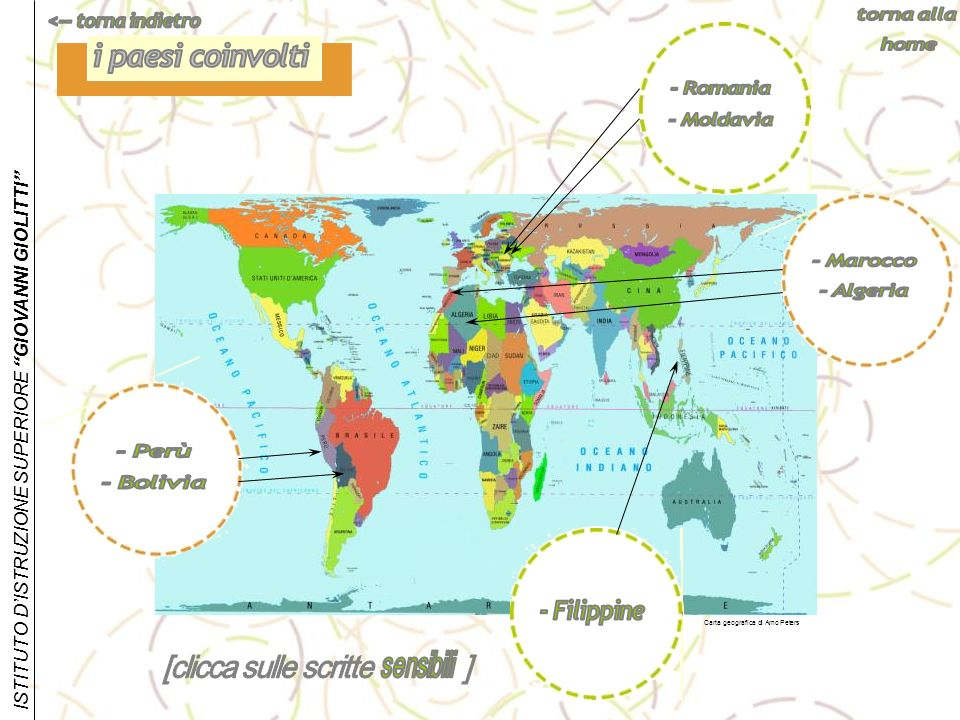 ISTITUTO DISTRUZIONE SUPERIORE GIOVANNI GIOLITTI Carta geografica di Arno Peters