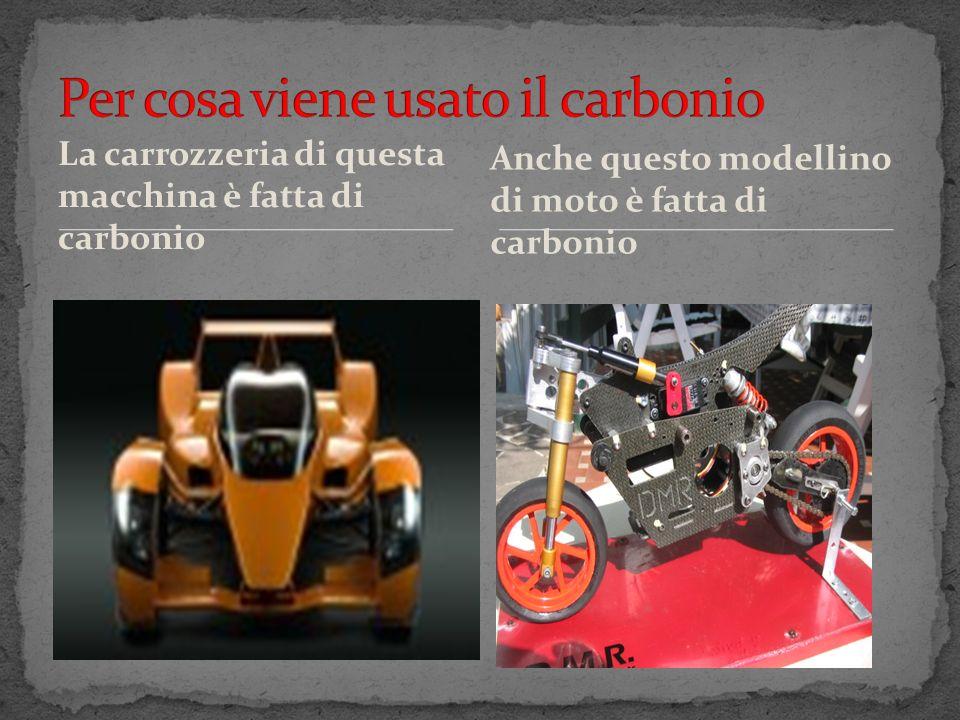 La carrozzeria di questa macchina è fatta di carbonio Anche questo modellino di moto è fatta di carbonio
