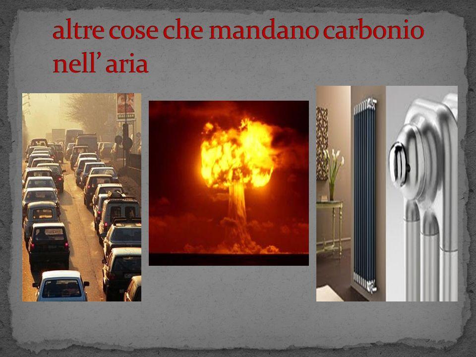 IL carbonio va sotto terra sotto forma di pioggia acida