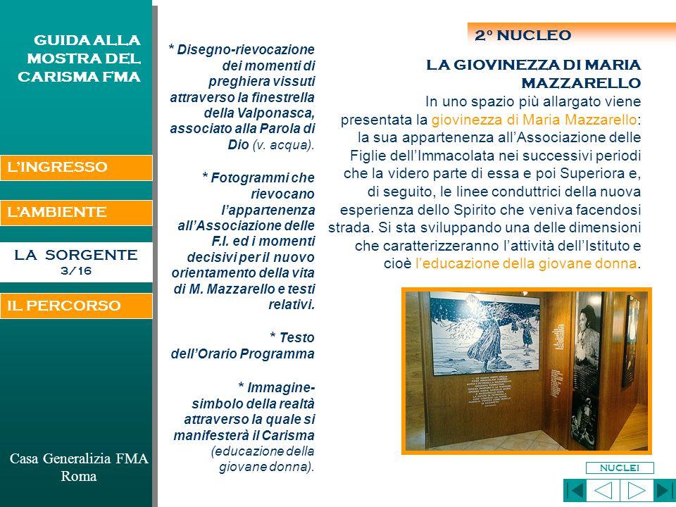 Casa Generalizia FMA Roma GUIDA ALLA MOSTRA DEL CARISMA FMA DON BOSCO E M.