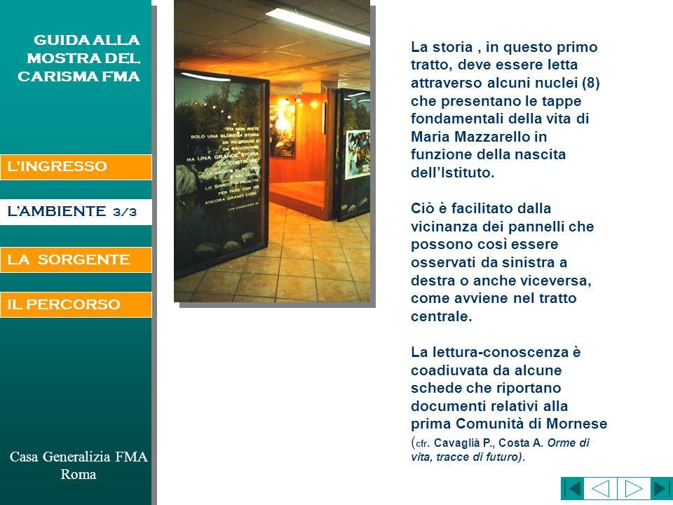 Casa Generalizia FMA Roma GUIDA ALLA MOSTRA DEL CARISMA FMA NIZZA E CONCLUSIONE DELLA VITA DI M.