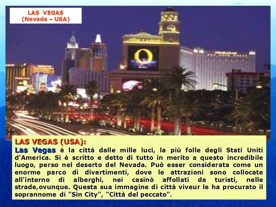 LAS VEGAS (USA): Las Vegas è la città dalle mille luci, la più folle degli Stati Uniti d'America. Si è scritto e detto di tutto in merito a questo inc