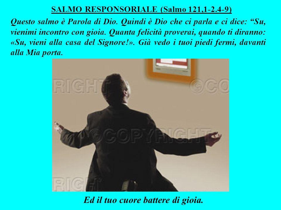 SALMO RESPONSORIALE (Salmo 121,1-2.4-9) Questo salmo è Parola di Dio.