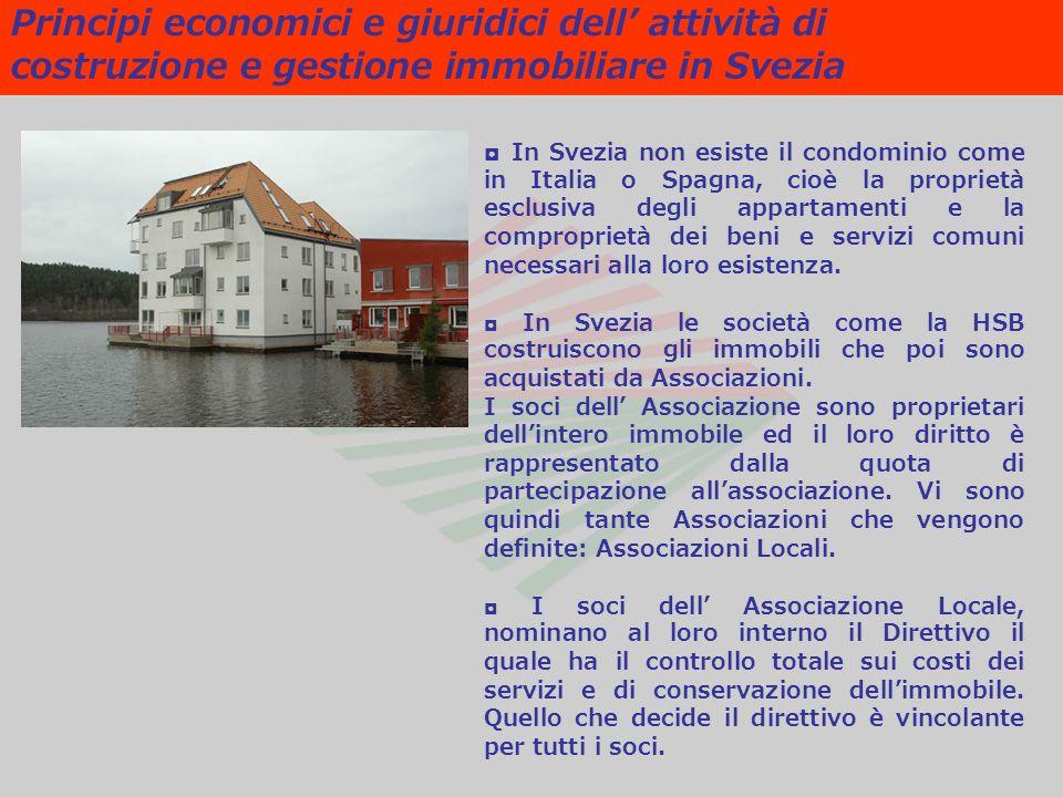 Principi economici e giuridici dell attività di costruzione e gestione immobiliare in Svezia In Svezia non esiste il condominio come in Italia o Spagn