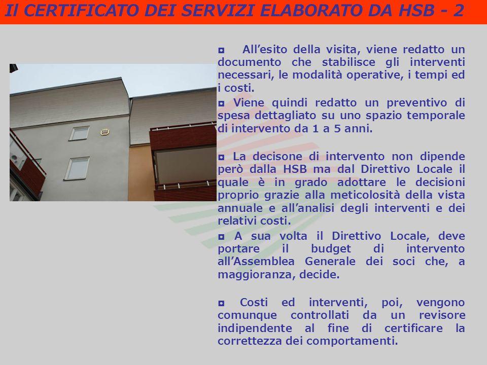Allesito della visita, viene redatto un documento che stabilisce gli interventi necessari, le modalità operative, i tempi ed i costi.