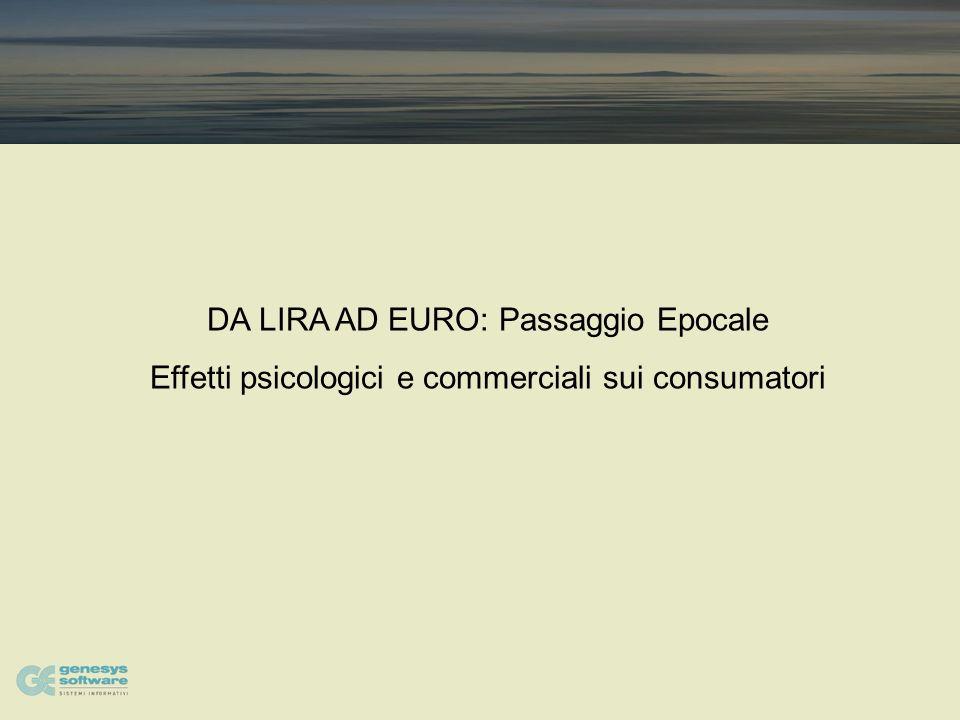 DA LIRA AD EURO: Passaggio Epocale Effetti psicologici e commerciali sui consumatori