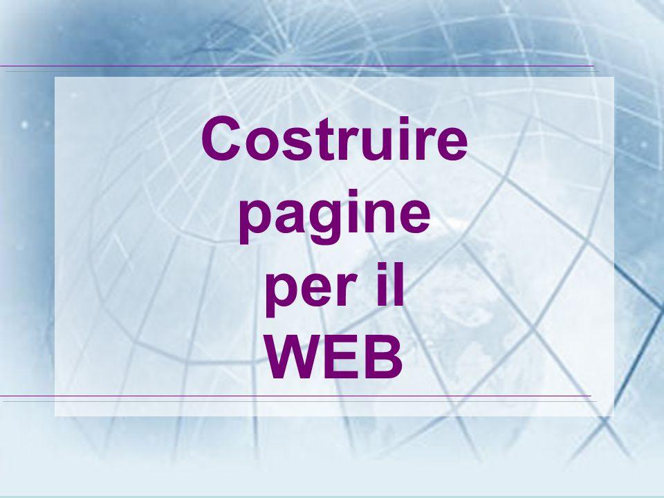 Prof. Marina Grisoni Costruire pagine per il WEB