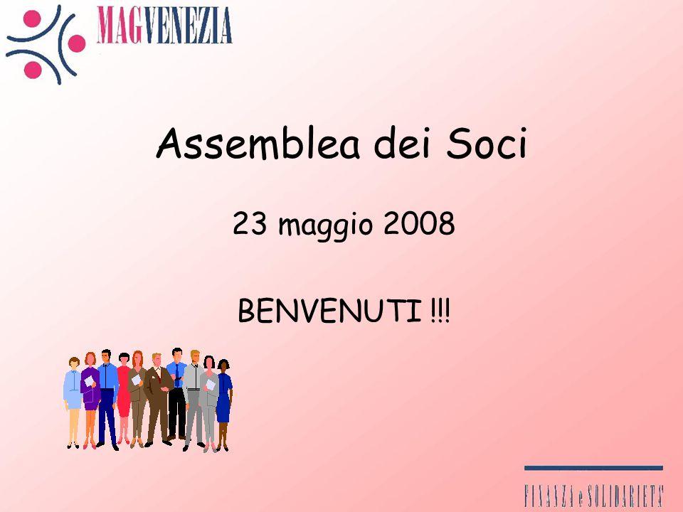 Assemblea dei Soci 23 maggio 2008 BENVENUTI !!!