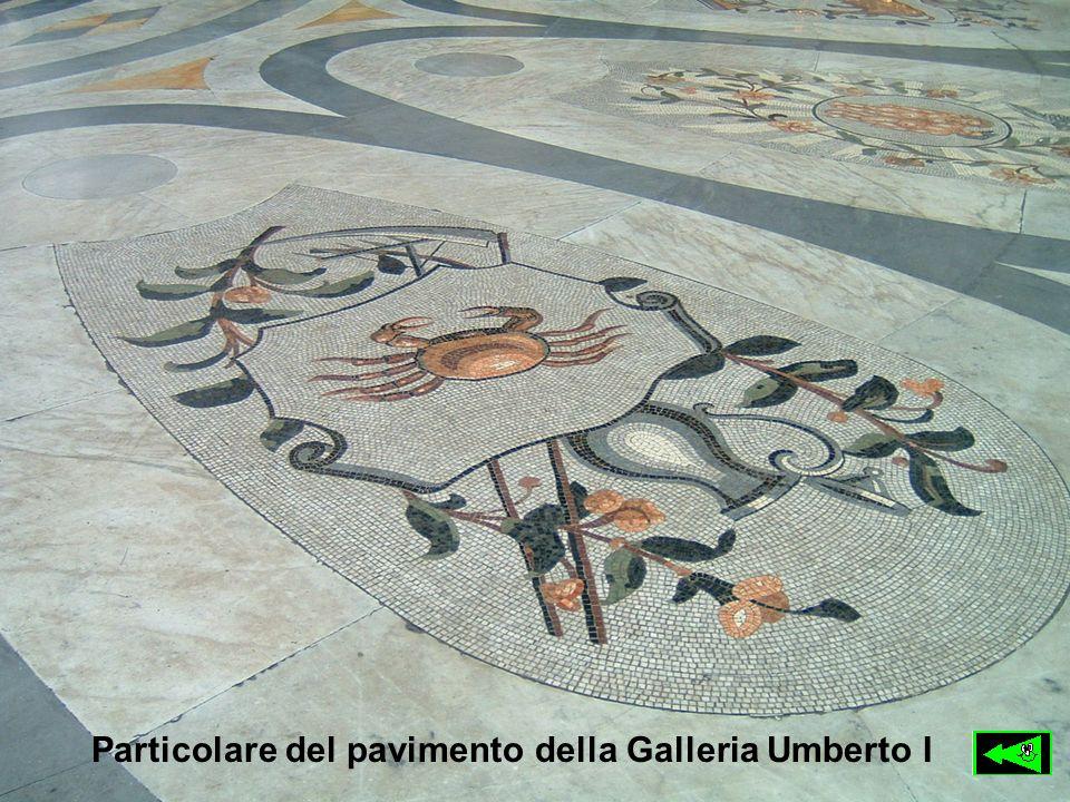 Particolare del pavimento della Galleria Umberto I
