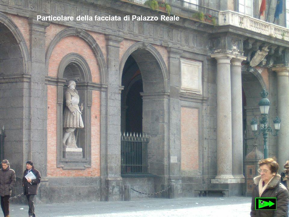 Particolare della facciata di Palazzo Reale