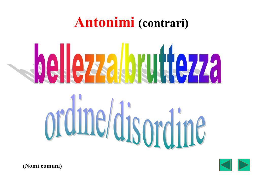 Antonimi (contrari) (Aggettivi qualificativi)