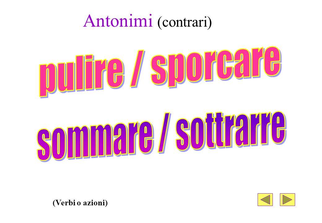 Antonimi (contrari) (Nomi comuni)