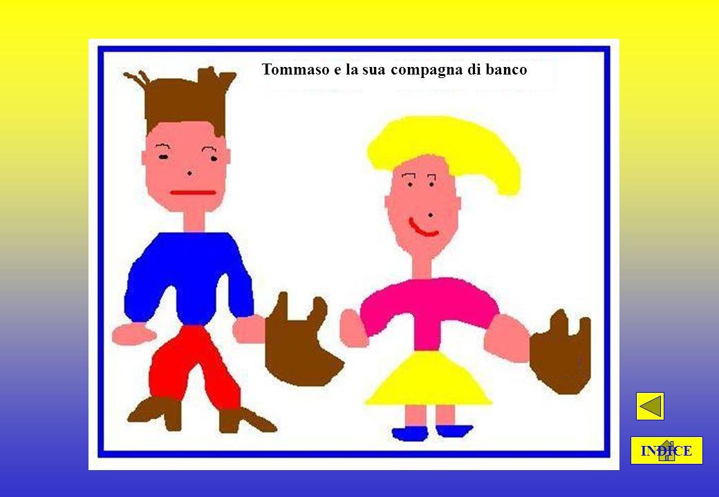 Testo descrittivo (inserire una similitudine) Il mio amico Tommaso Il mio amico Tommaso ha gli occhi azzurri e i capelli castani, che sono lisci. Il g