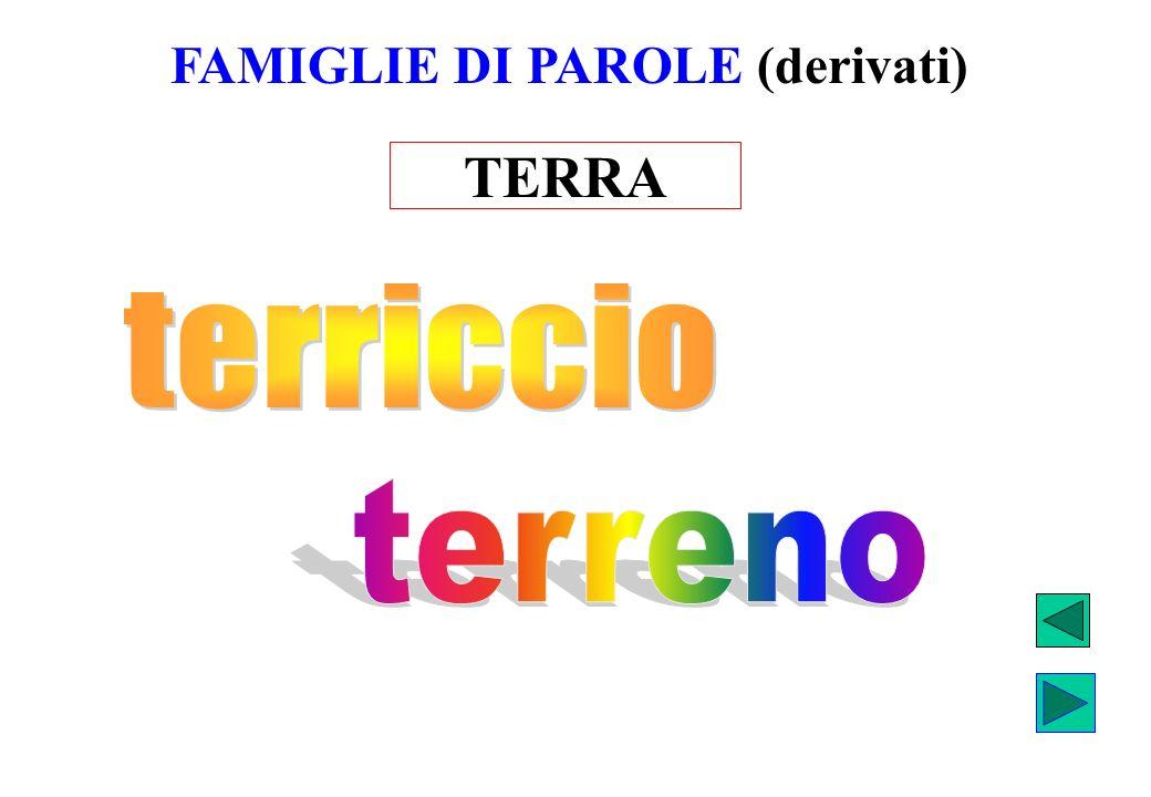 TERRA FAMIGLIE DI PAROLE (derivati)