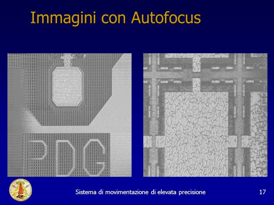Sistema di movimentazione di elevata precisione17 Immagini con Autofocus