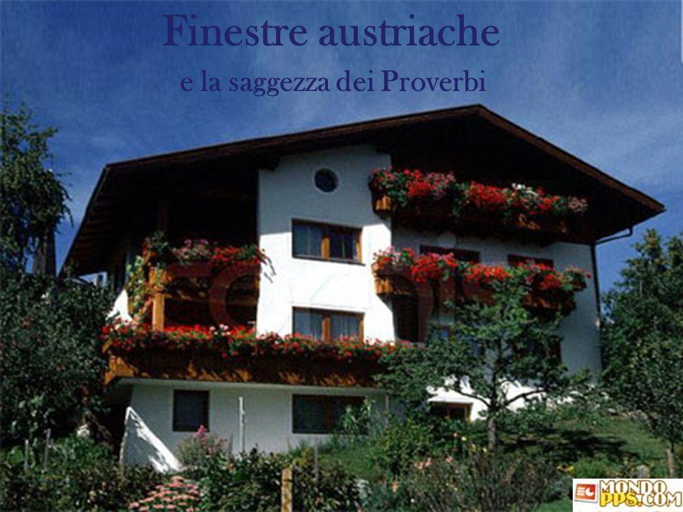 Finestre austriache e la saggezza dei Proverbi