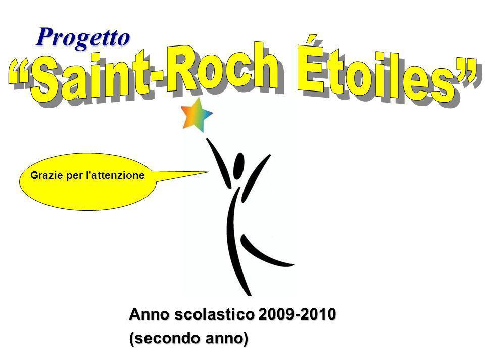 Progetto Anno scolastico 2009-2010 (secondo anno) Grazie per l attenzione