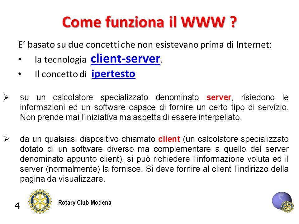 4 Rotary Club Modena Come funziona il WWW .