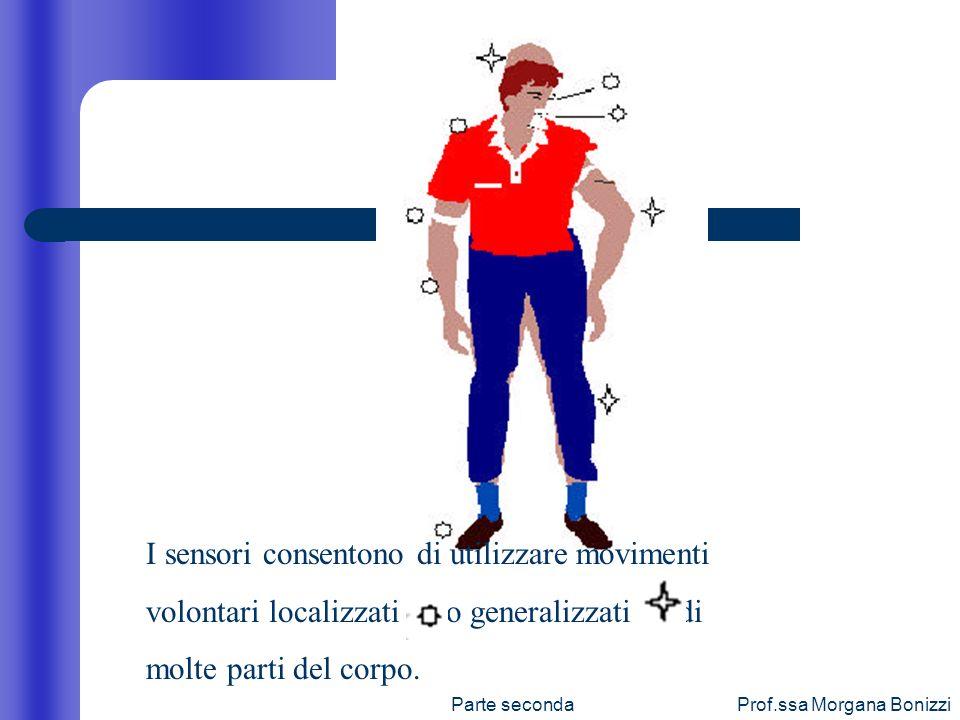 Parte secondaProf.ssa Morgana Bonizzi I sensori consentono di utilizzare movimenti volontari localizzati ( ) o generalizzati ( ) di molte parti del co