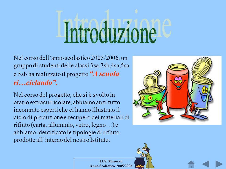 I.I.S. Maserati Anno Scolastico 2005/2006 Nel corso dellanno scolastico 2005/2006, un gruppo di studenti delle classi 3sa,3sb,4sa,5sa e 5sb ha realizz