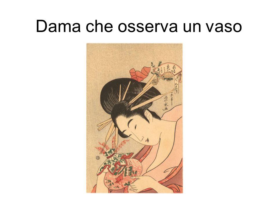 Dama che osserva un vaso
