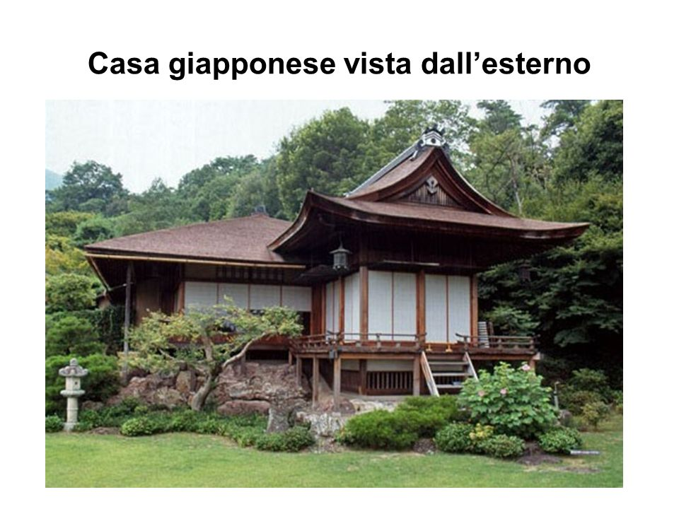 Casa giapponese vista dallesterno