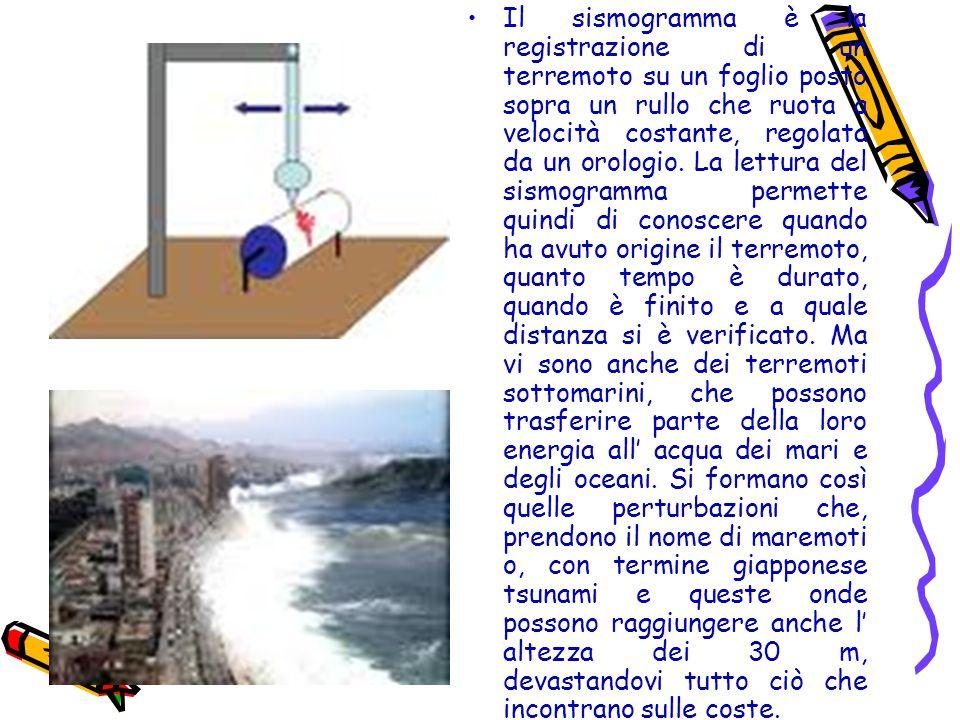Il sismogramma è la registrazione di un terremoto su un foglio posto sopra un rullo che ruota a velocità costante, regolata da un orologio. La lettura
