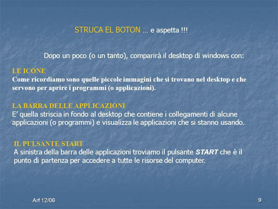 Arf 12/06 9 STRUCA EL BOTON … e aspetta !!.