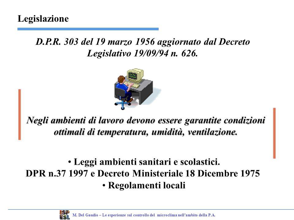 M.Del Gaudio – Le esperienze sul controllo del microclima nellambito della P.A.