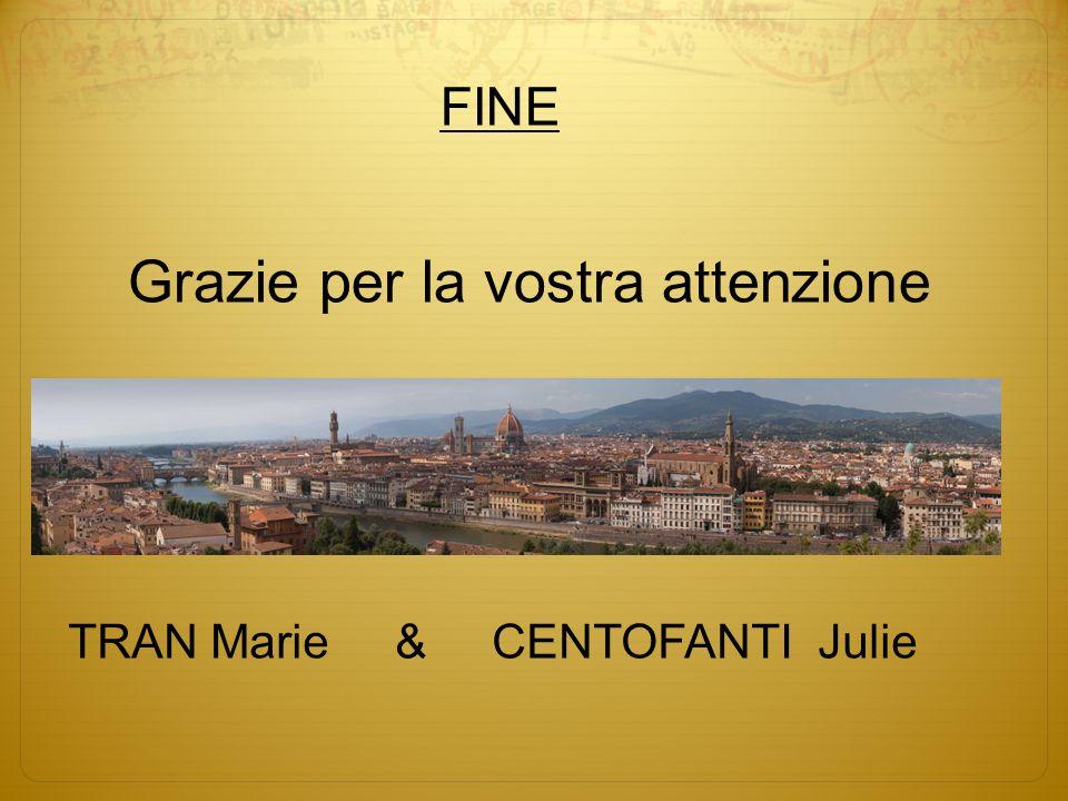 Grazie per la vostra attenzione TRAN Marie & CENTOFANTI Julie FINE
