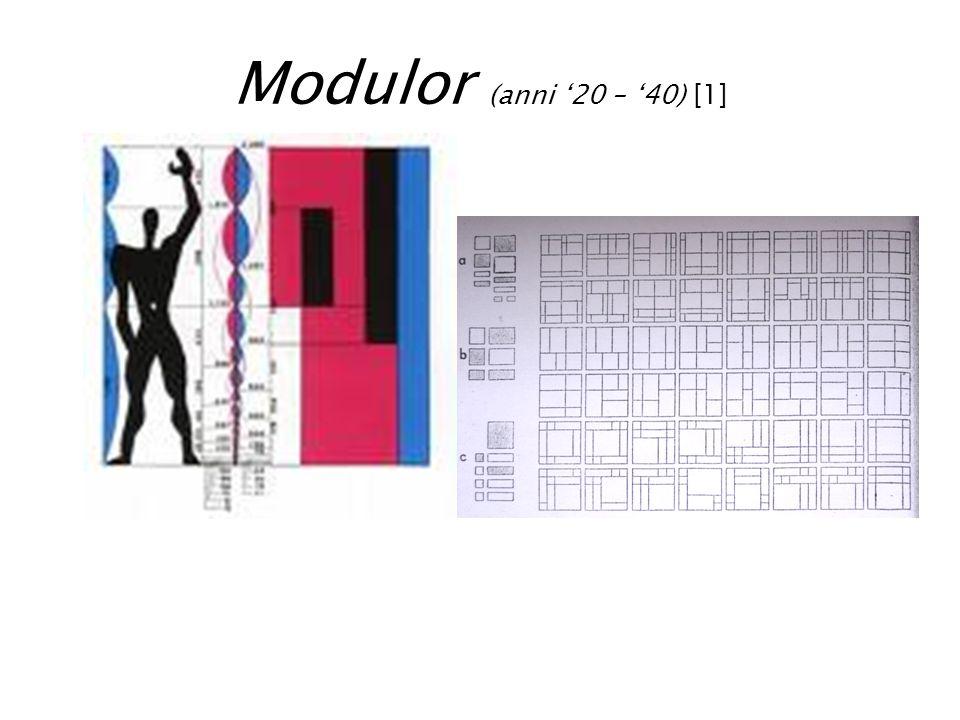 Modulor (anni 20 – 40) [1]
