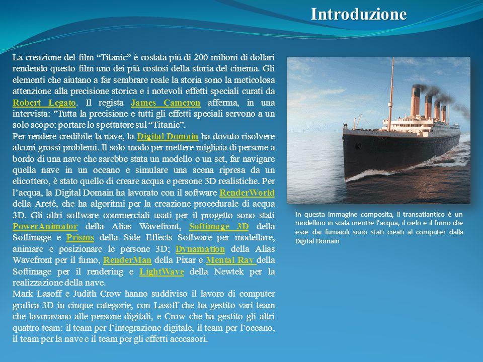 Introduzione La creazione del film Titanic è costata più di 200 milioni di dollari rendendo questo film uno dei più costosi della storia del cinema. G