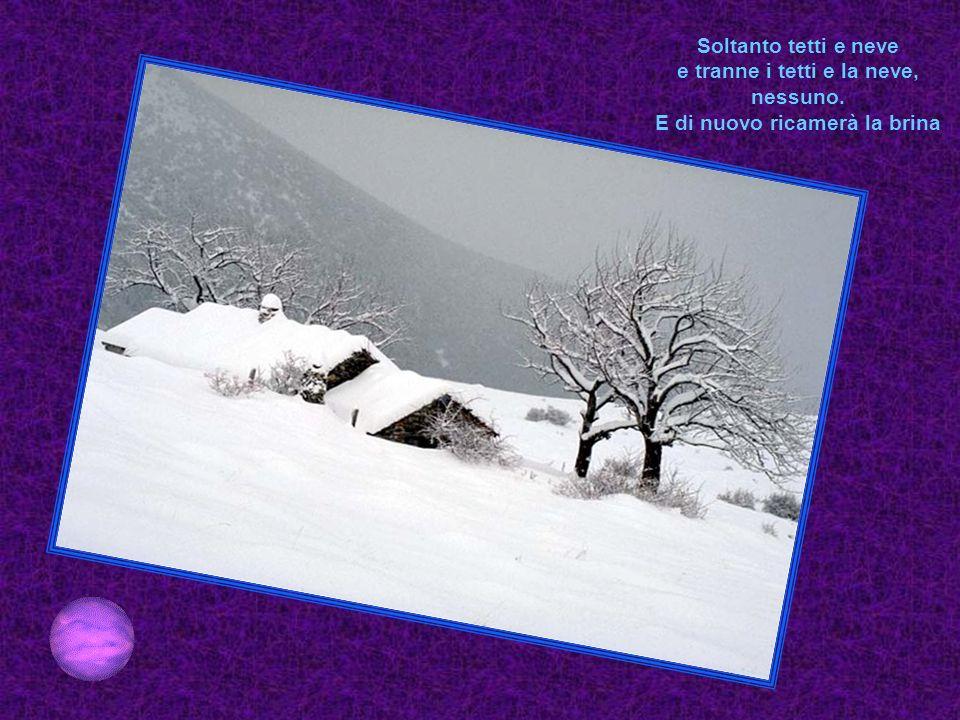 Nel tono trasparente delle tende scostate Di palle di neve solo, umide e bianche la rapida, sfavillante traccia.