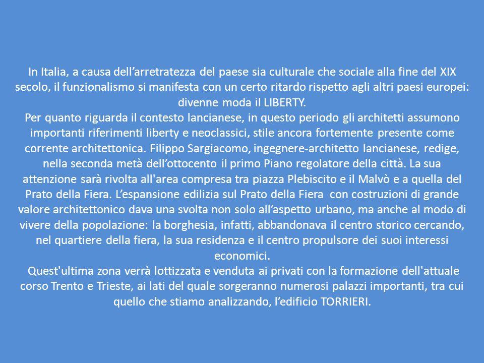 In Italia, a causa dellarretratezza del paese sia culturale che sociale alla fine del XIX secolo, il funzionalismo si manifesta con un certo ritardo r
