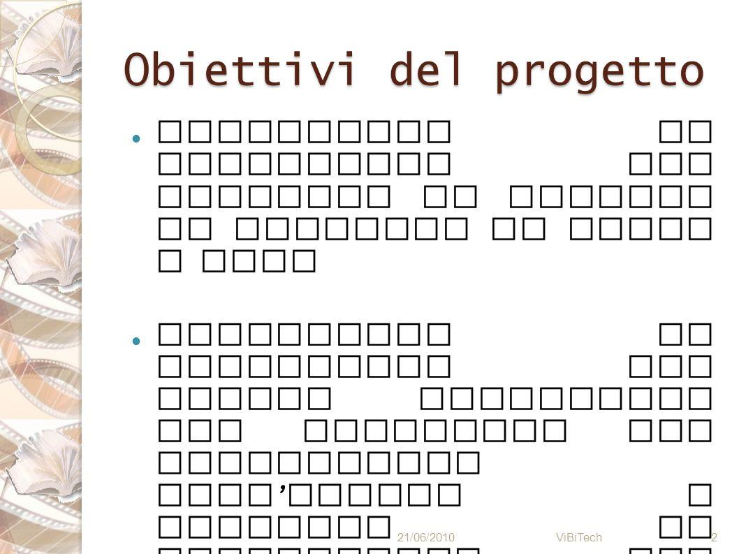 Obiettivi del progetto Progettare un linguaggio che permetta di gestire un archivio di libri e film Realizzare un interprete per questo linguaggio che