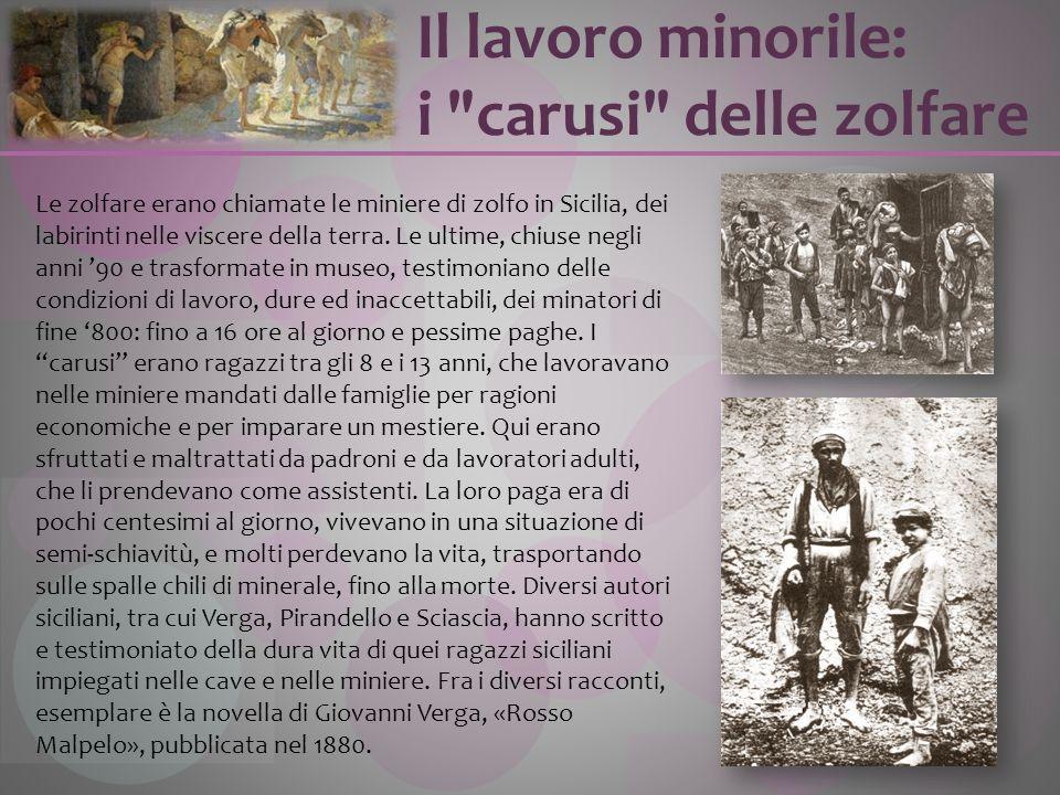 Le zolfare erano chiamate le miniere di zolfo in Sicilia, dei labirinti nelle viscere della terra. Le ultime, chiuse negli anni 90 e trasformate in mu