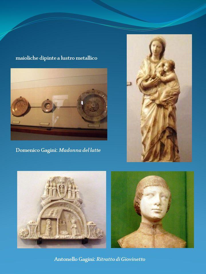 maioliche dipinte a lustro metallico Domenico Gagini: Madonna del latte Antonello Gagini: Ritratto di Giovinetto