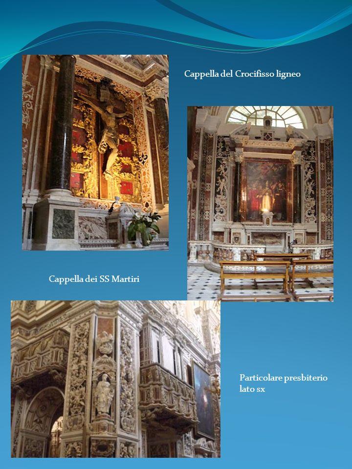 Cappella del Crocifisso ligneo Particolare presbiterio lato sx Cappella dei SS Martiri