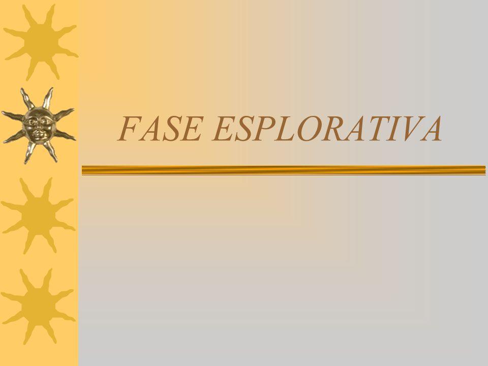 FASE ESPLORATIVA