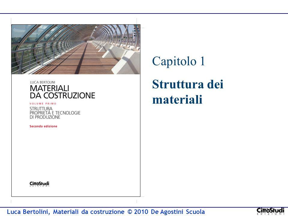 Luca Bertolini, Materiali da costruzione © 2010 De Agostini Scuola Capitolo 1 Struttura dei materiali