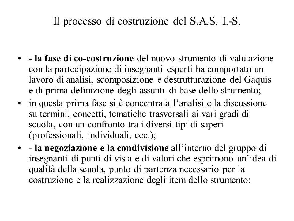 Il processo di costruzione del S.A.S. I.-S.