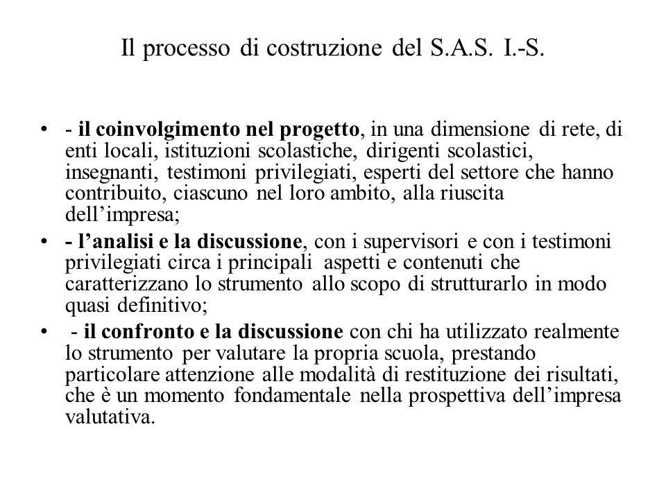 Il processo di costruzione del S.A.S.I.-S.