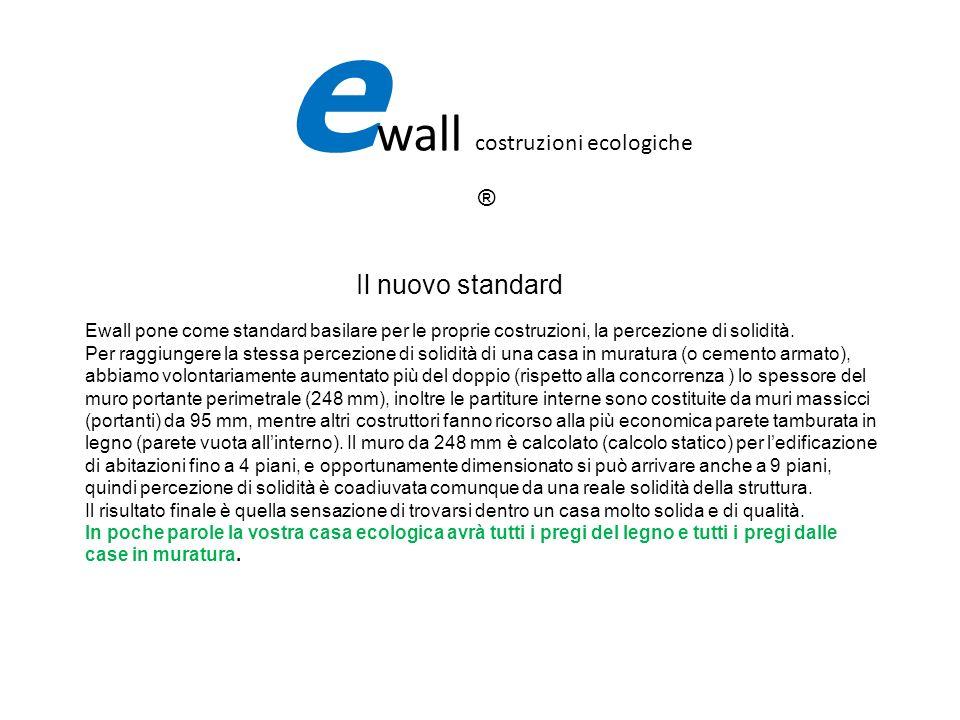 Il nuovo standard Ewall pone come standard basilare per le proprie costruzioni, la percezione di solidità. Per raggiungere la stessa percezione di sol