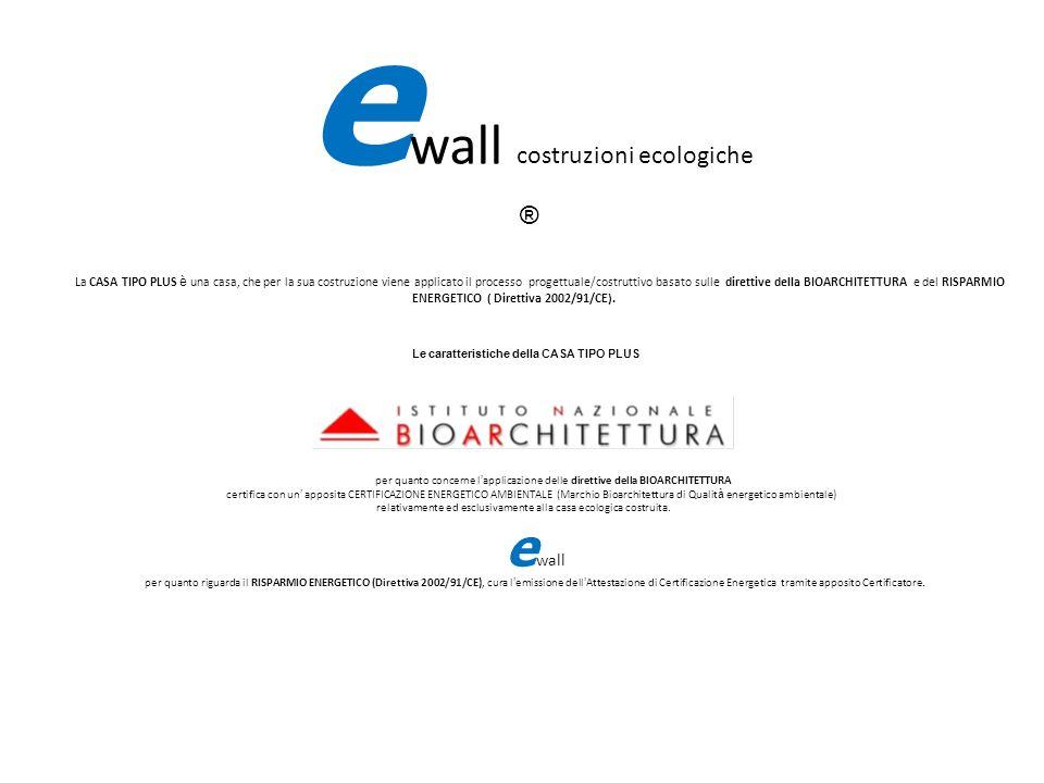 e wall costruzioni ecologiche ® La CASA TIPO PLUS è una casa, che per la sua costruzione viene applicato il processo progettuale/costruttivo basato su