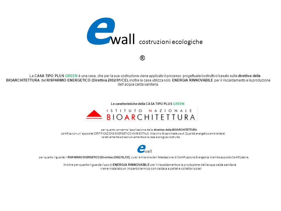 e wall costruzioni ecologiche ® La CASA TIPO PLUS GREEN è una casa, che per la sua costruzione viene applicato il processo progettuale/costruttivo bas