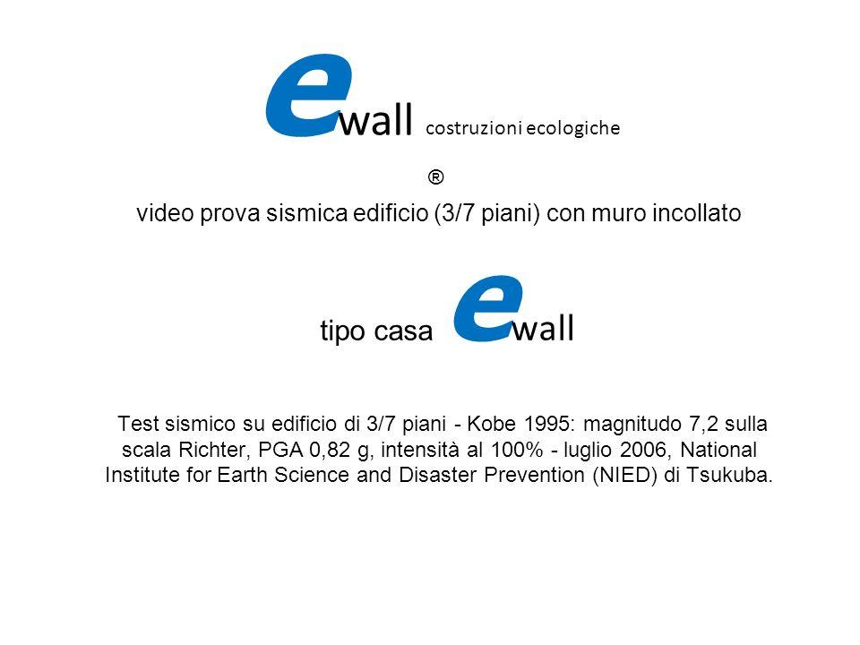 video prova sismica edificio (3/7 piani) con muro incollato tipo casa e wall Test sismico su edificio di 3/7 piani - Kobe 1995: magnitudo 7,2 sulla sc