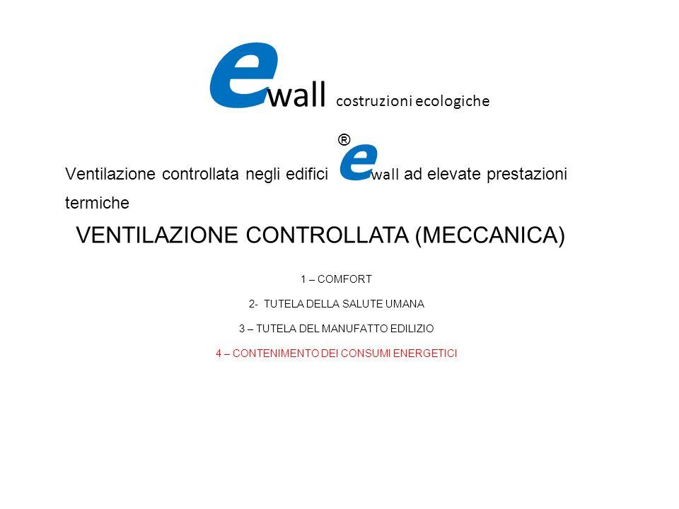 Ventilazione controllata negli edifici e wall ad elevate prestazioni termiche e wall costruzioni ecologiche ® VENTILAZIONE CONTROLLATA (MECCANICA) 1 –