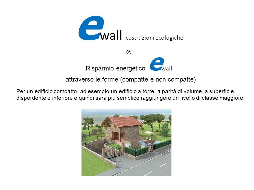 Risparmio energetico e wall attraverso le forme (compatte e non compatte) e wall costruzioni ecologiche ® Per un edificio compatto, ad esempio un edif